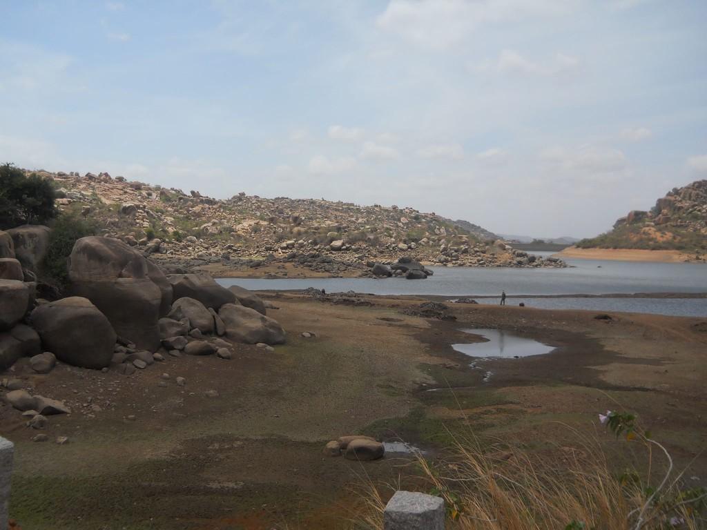 Tungabhadra near Rishimukh temple - hampi island