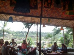 A view of hampi from the lauging buddha cafe