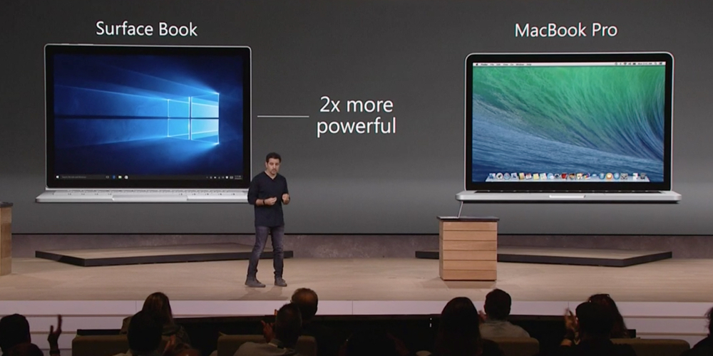 surface book vs mac book pro