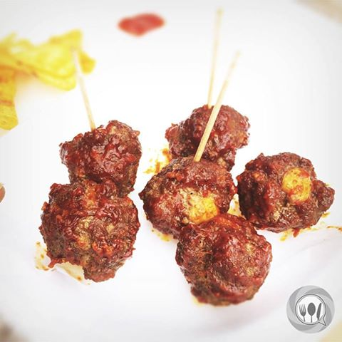 Yummy meat balls with cheese