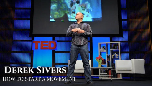Best TED video leadership, Shortest inspirational video Derek Sivers how to start a movement