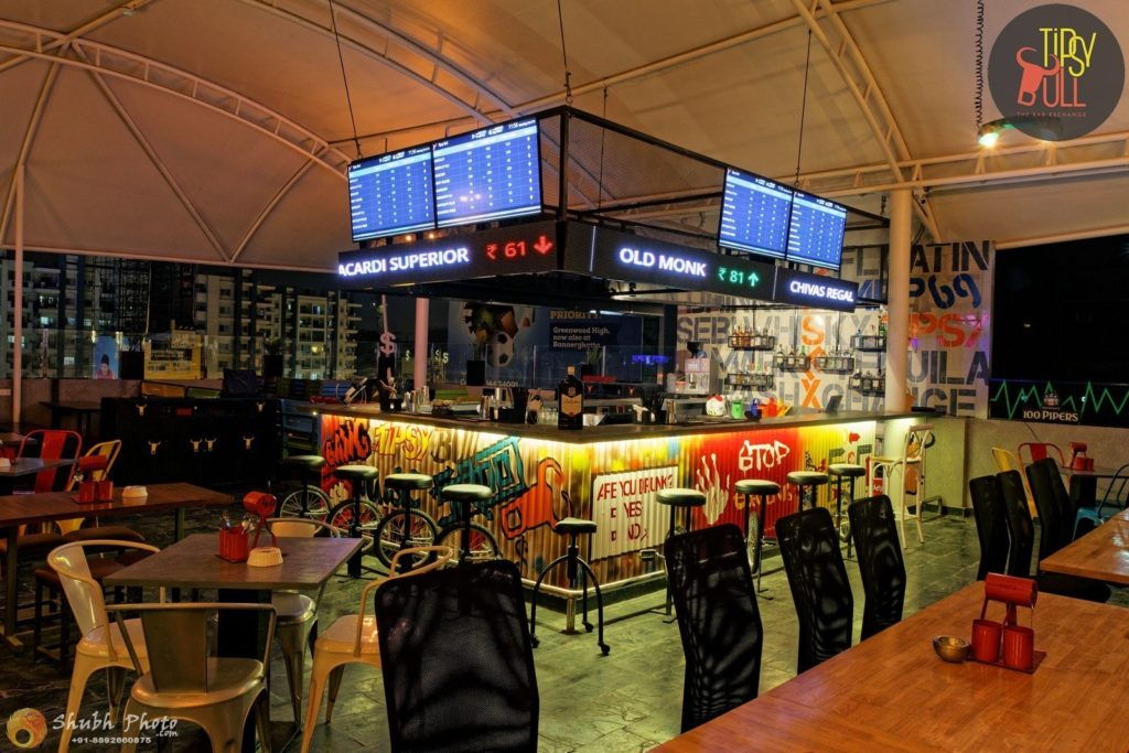 Best places to drink in bangalore stock market themed bar pub