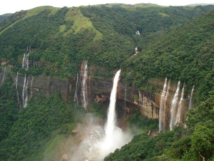 Akashiganga waterfalls in Meghalaya places you must Visit in North East