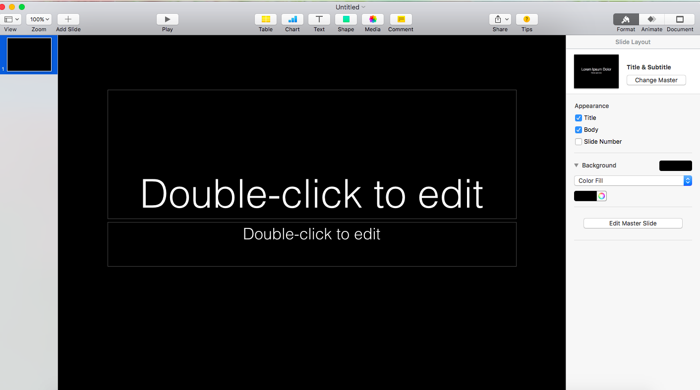 How To Change Slide Background In Mac's Keynote