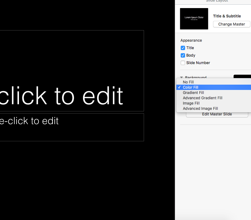 how to change spacing in keynote