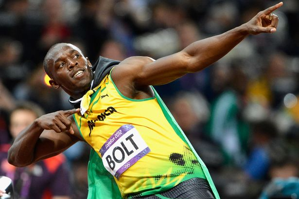 Usain bolt celebration