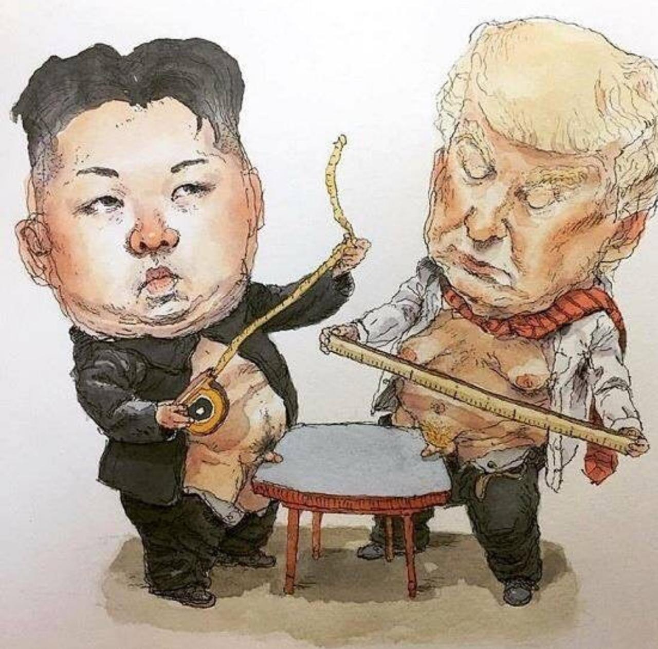 North korea vs USA. Trump and kim jong un